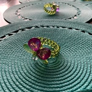 Pier 1 Set of 8 placemats with napkin rings
